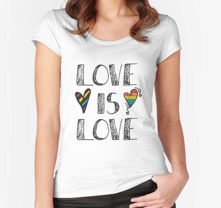 Love Is Love Rainbow Doodles LGBT Pride