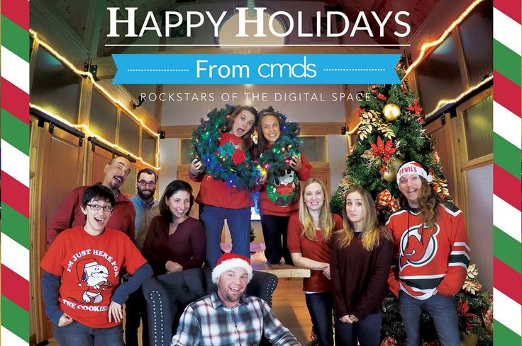 """Our very own holiday poem: """"Twas the Night Before Christmas at a Marketing Agency""""  Happy Holidays from the (wacky) team at CMDS!"""