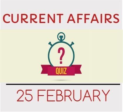 Current+Affairs+Quiz+for+25+February+2016+-+Daily+Jankari+-+Current+Affairs