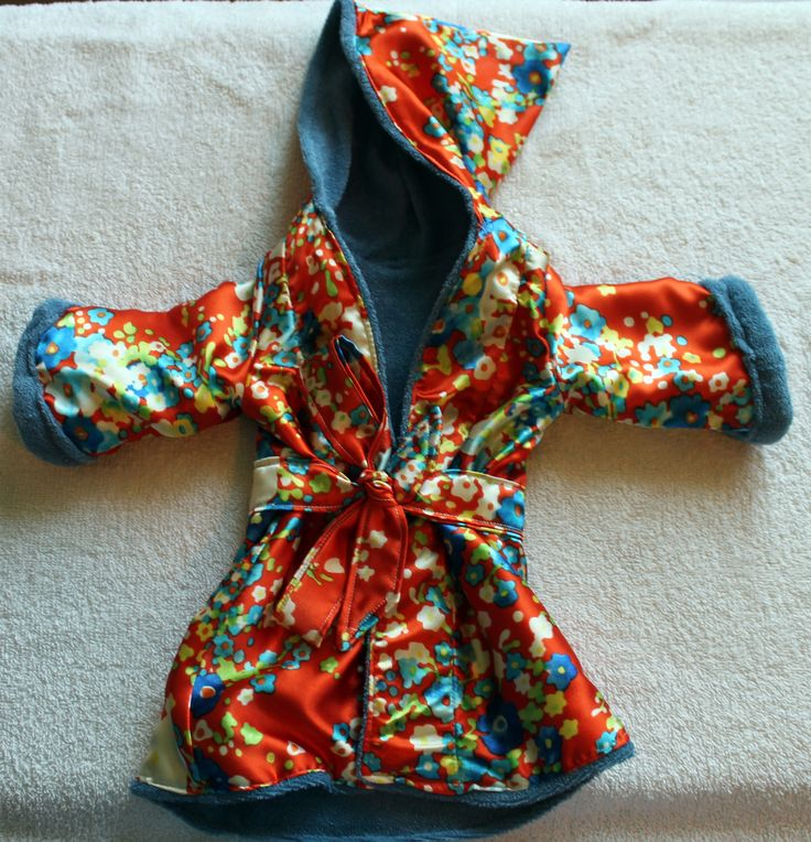 Fleece Lined Silk Bathrobe.  I wish this came in my size!
