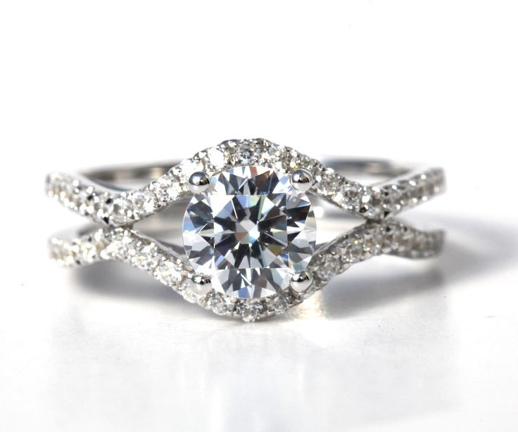 Spectacular CUSTOM Made For YOU carat Round Diamond Engagement Ring K white gold