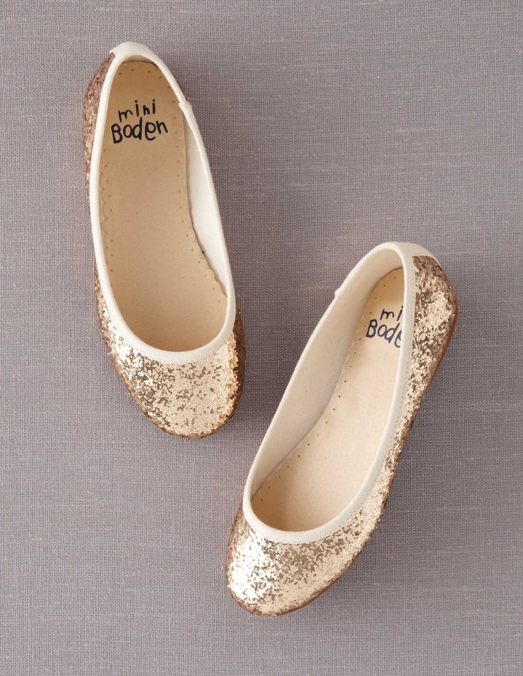 Flower girl shoes Glitter Ballet Flats 39105 Shoes at Boden #flowergirl