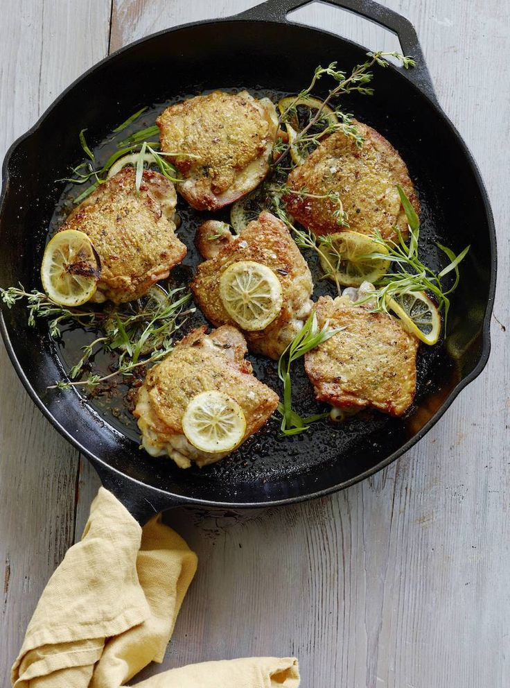 Crispy Lemon Chicken Thighs by whatsgabycooking: Perfect for quick and easy weeknight dinners. 30 minutes #Chicken #Lemon #Quick #Easy