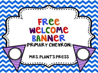 Mrs. Plant's Press: Welcome Banner Freebie