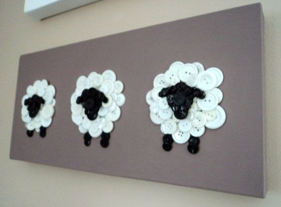 Button Sheep Nursery Decor- this would look so cute in brynnie's room