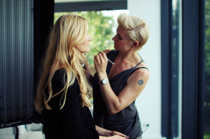 Work in progress behind the scenes at the shoot! Yves Rocher - AutumnLooks 2012