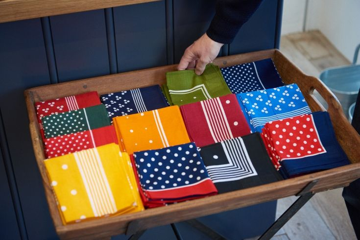Cotton Handkerchiefs, available at both our Redchurch Street and Tokyo shop as well as online.  www.labourandwait.co.uk