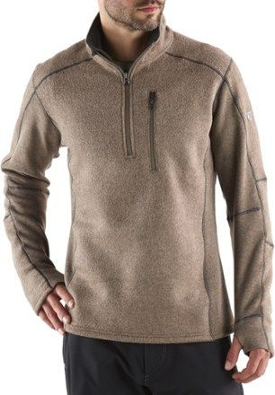 KUHL Men's Interceptr Quarter-Zip Fleece Pullover Brick XXL ...