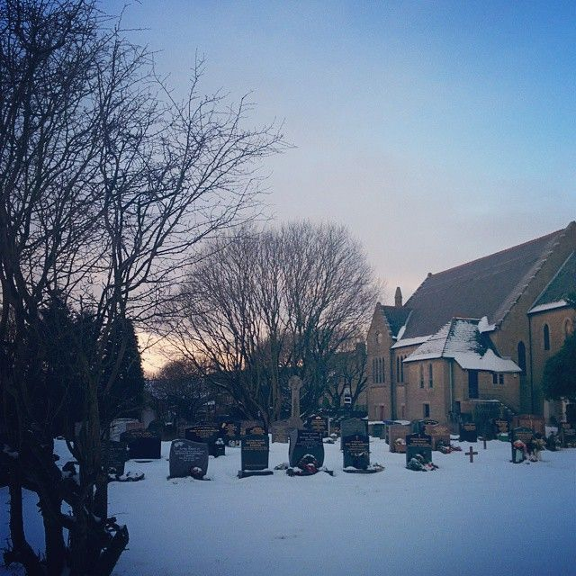 Church in the snow.