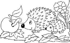 Djur Målarbilder för barn. Teckningar online till skriv ut. Nº 204