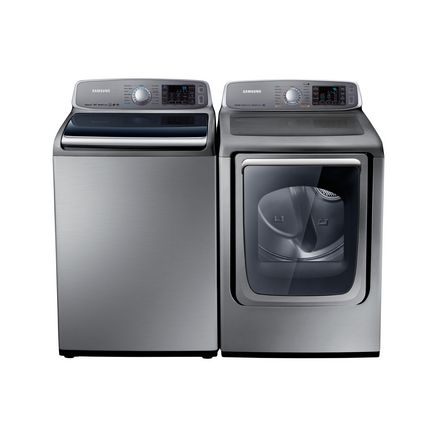 Samsung 174 5 7 Cu Ft He Top Load Washer And 7 4 Cu Ft