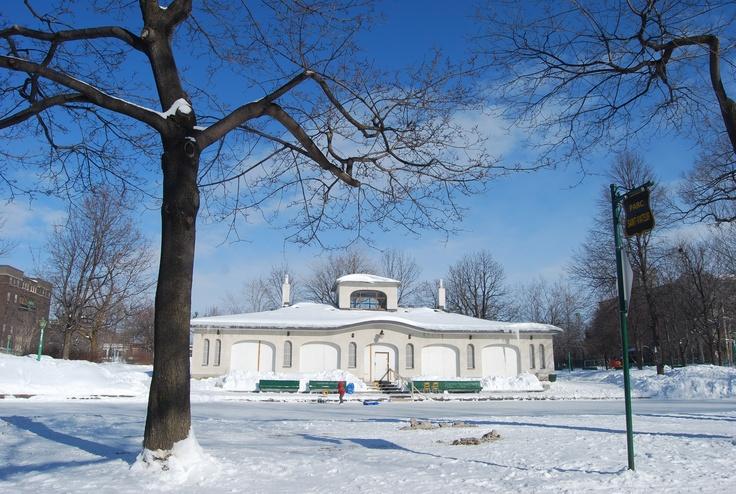 Parc St-Viateur in winter