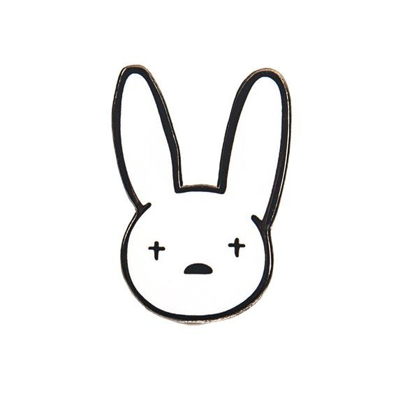 Get Your Bad Bunny Logo Hard Enamel Pin Pin Measures 1 Tall X 0 5