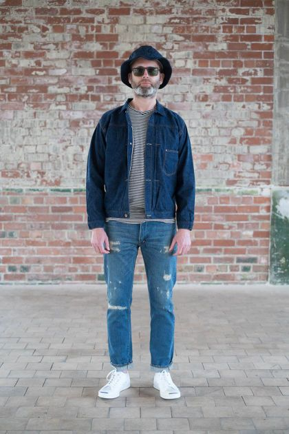 This heather blue US Navy hat from orSlow would be a nice addition to your bucket hat rotation. You guys