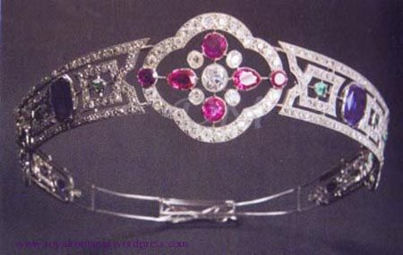 Tiara of the Royal Romanian Family--platinum, rubies, sapphires, diamonds, etc. is now in the National History Museum in Bucharest.