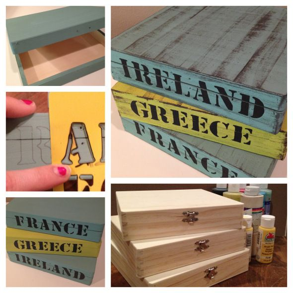 Vacation Memento Boxes.... Love this idea