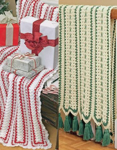 Picture of Mile-A-Minute Christmas Afghans Set Crochet Pattern