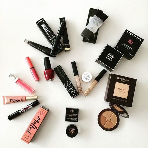 A Sampling of Assorted Luxury Cosmetics