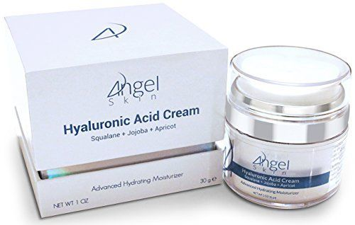 Hyaluronic Acid Cream Moisturizer Face and Skin with Squalane Jojoba and Apricot Oil Airless Jar Protects Formula Best Anti Aging Moisturizer 1 Oz *** Check this awesome product by going to the link at the image.