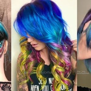 Astonishing Glitter Undercuts and Color Creations by Rebecca Taylor, California…