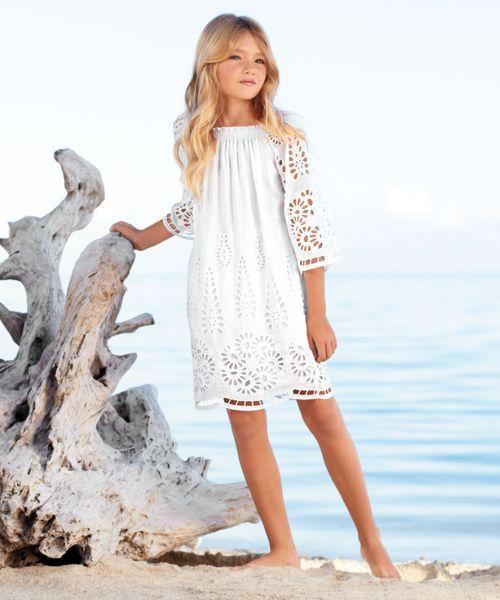 White summer flower girl dresses