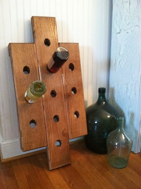 handmade out of oak wood : Wine Rooms, Wood Work, Wine Racks, Oak Wood, Oak Wine, Wine Lov, Daughters Diy, Things Wine, Father Daughters