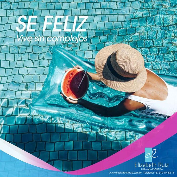 Feliz fin de semana!  Dra. Elizabeth Ruiz Médica y Cirujana Cirujana Plástica Miembro de la Sociedad Colombiana de Cirugía Plástica.