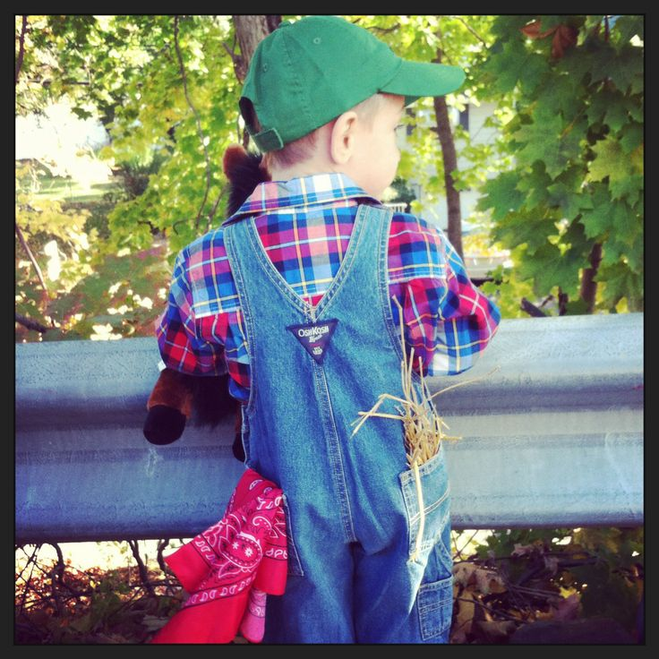 Toddler farmer DIY costume