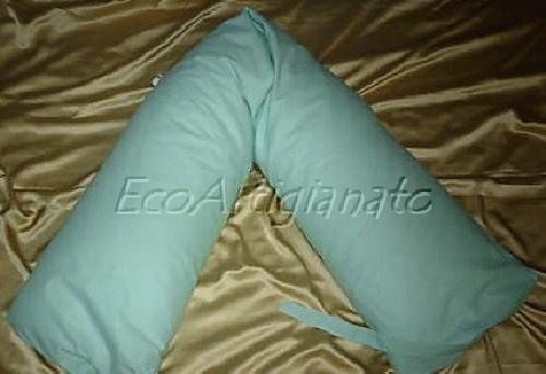 Cuscino Allattamento Lineare 170 cm in Cotone e Pula di Farro Bio con Federa