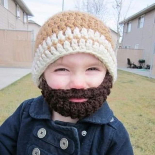 Crochet beard hat!