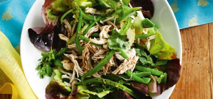 GINGER POACHED CHICKEN SALAD