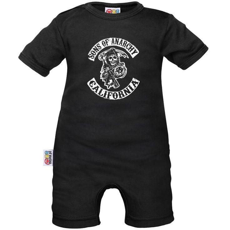 Barboteuse bébé: Sons of Anarchy - Tête de mort - Family In Black