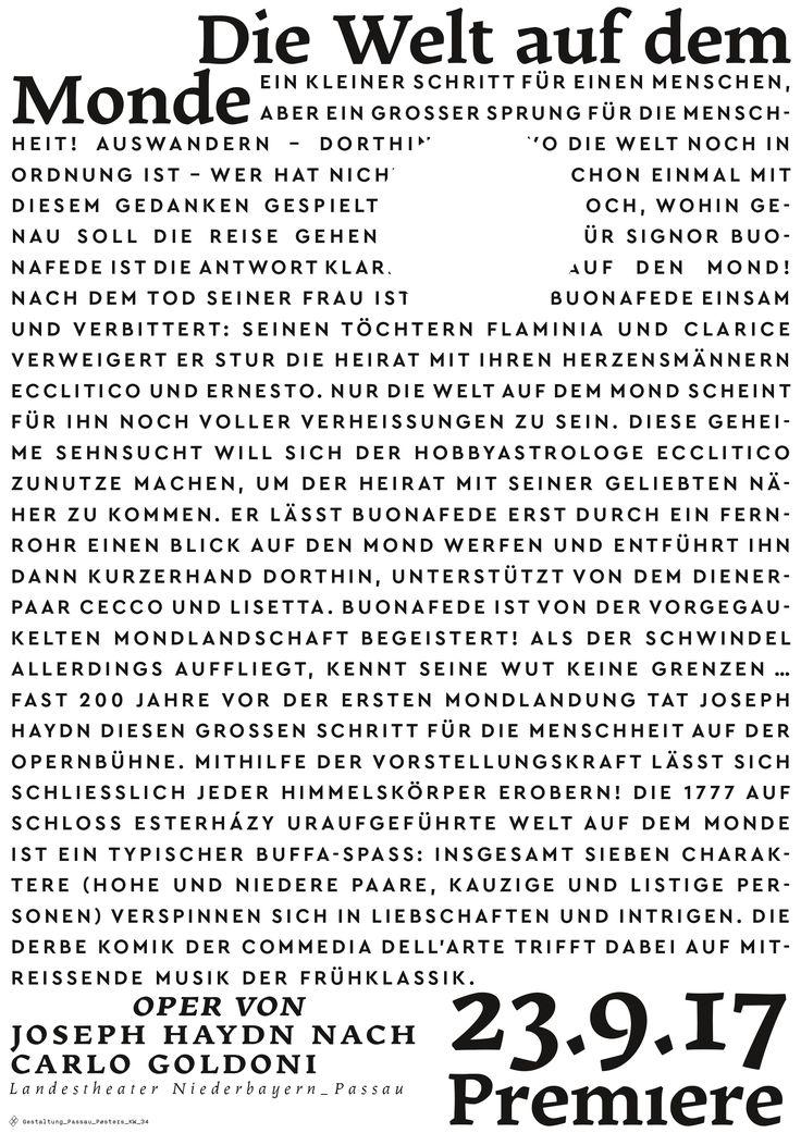 #passau_posters #kw_34 #dieweltaufdemmonde #oper #landestheater_niederbayern #joseph_haydn #passau #poster #posters #plakat #postershow #typoposter #typoplakat #typography #typograhyinspired #typo #typo_weekly #blackandwhitetypography #blackandwhite #minimal #graphicdesign #nicethat #instadaily #manuelkreuzer #manuel_kreuzer