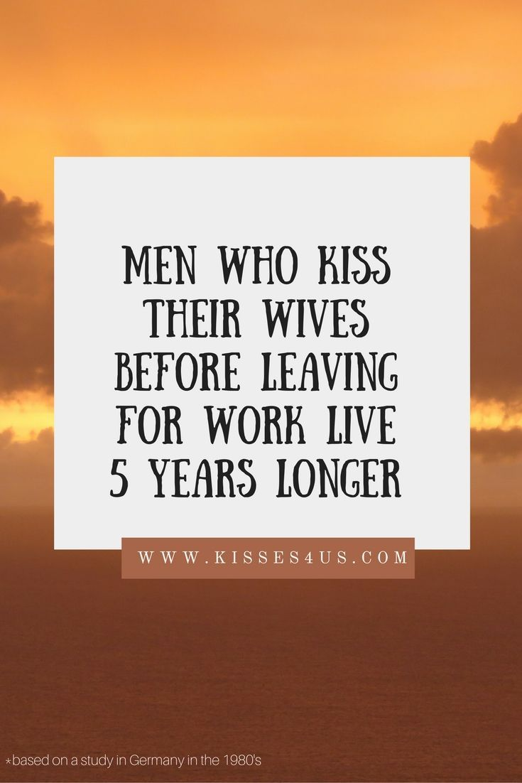 Make sure you KISS your spouse each and every day before leaving for work.  Make each KISS is fun and flirty with Kisses 4 Us!