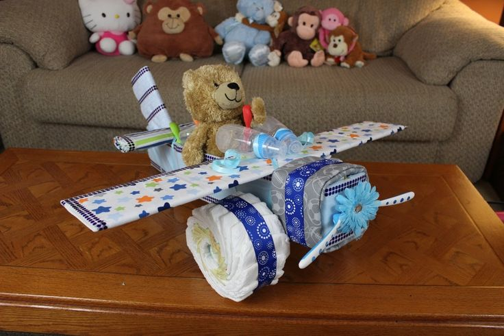 Boys Airplane Diaper Cake