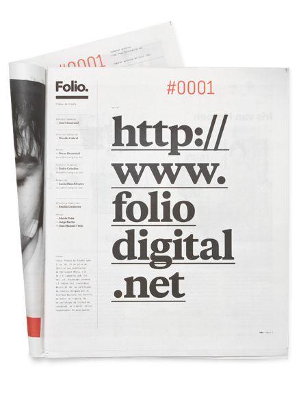 Folio. by Face. , via Behance