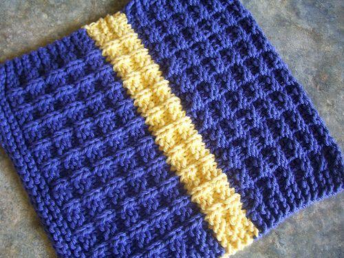 Waffle Knitting Pattern Dishcloth : Ravelry: Waffle Knit Dishcloth pattern by Debbie Andriulli Knitting Pinte...
