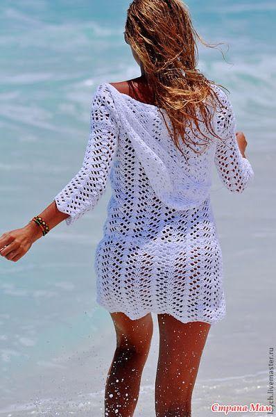 Королева пляжа-туника крючком