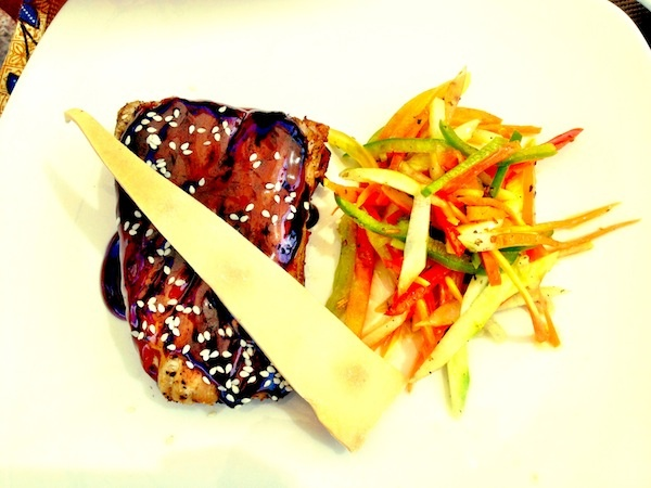 Tuna Belly with Teriyaki Sauce and Vegetables