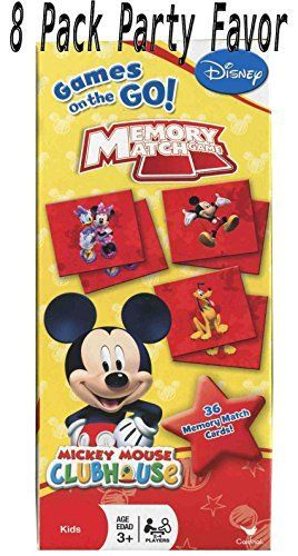 Mickey Mouse 8 Individual Games Memory Match Party Favors Includes some of your favorities Minnie Pluto Goofy Donald Duck etc