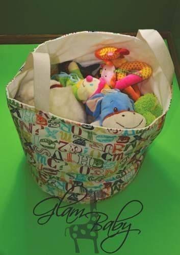 cesto tela juguetero bolsa organizador guarda juguetes