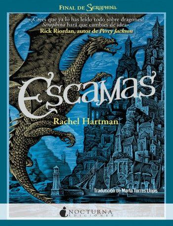 """Leyre Segura Azkune reseña """"Escamas"""", de Rachel Hartman. """"El volumen cierra con broche de oro las aventuras de nuestra medio-dragona preferida, la señorita Seraphina Dombegh.""""  http://www.mardetinta.com/libro/escamas/  NOCTURNA"""