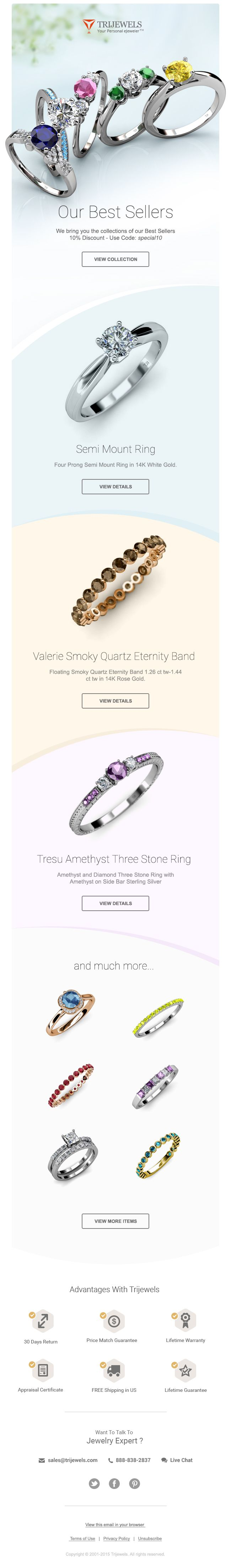 Promotional Email Design for online Jewelry store - by M khalid