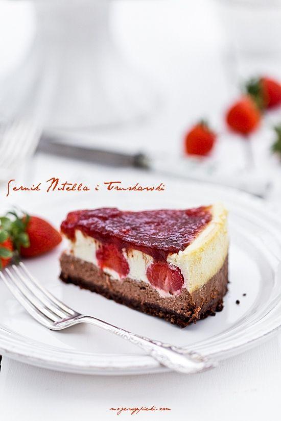 Nutella and Strawberry Cheesecake Recipe