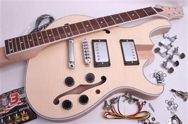 ELECTRIC GUITAR KIT- SEMI-HOLLOW-STYLE - Guitar bodies and kits from BYOGuitar