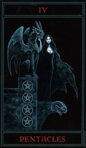 The Gothic Tarot: Four of Pentacles