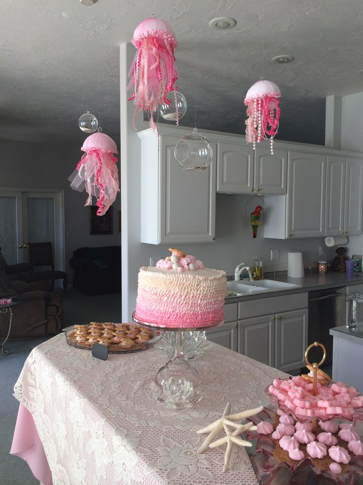 Pink Amp Lace Under The Sea Baby Shower With Jelly Fish