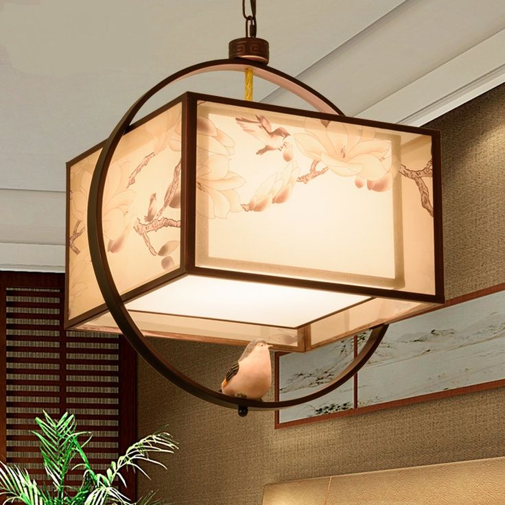 Classic New Chinese Style Iron Pendant Light Modern Creativity Pastoral Bird Living Room Bedroom Restaurant Corridor