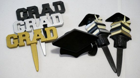 Graduation Cupcake toppers and ADJUSTABLE por simplywrappers