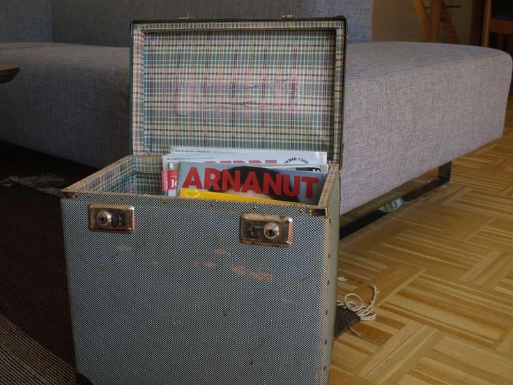 Old retro box used for magazines.